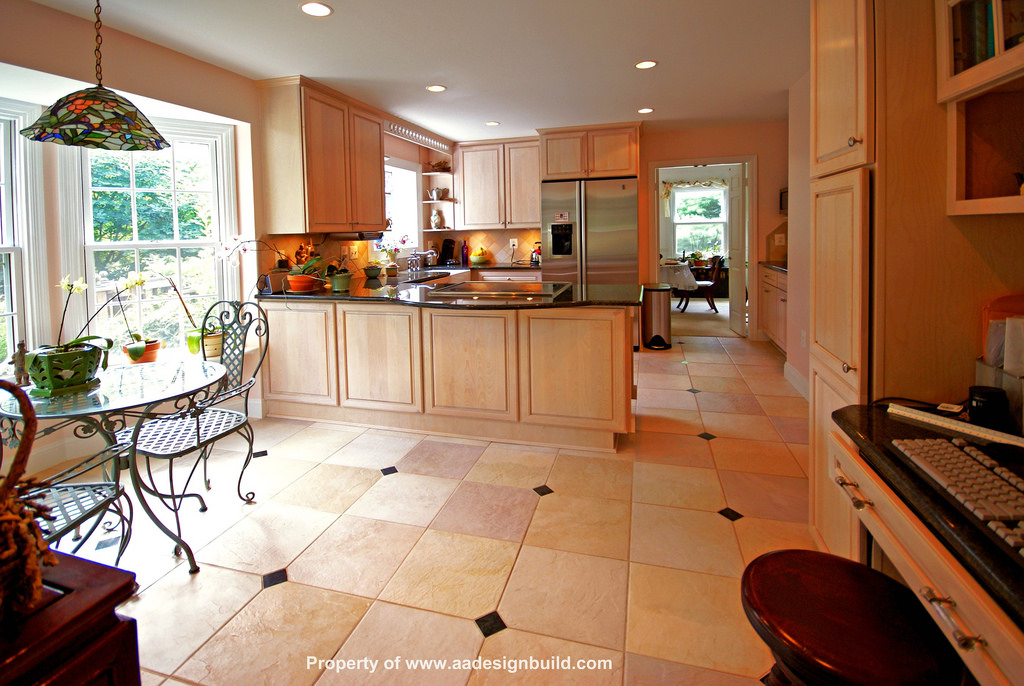 Floor to ceiling cabinetry can help with lack of space in your kitchen.