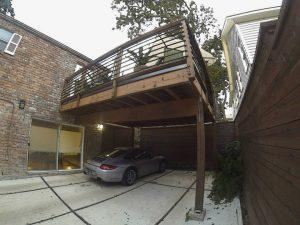 carport and deck