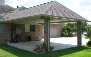 Carport Made by Home Remedy Closer View