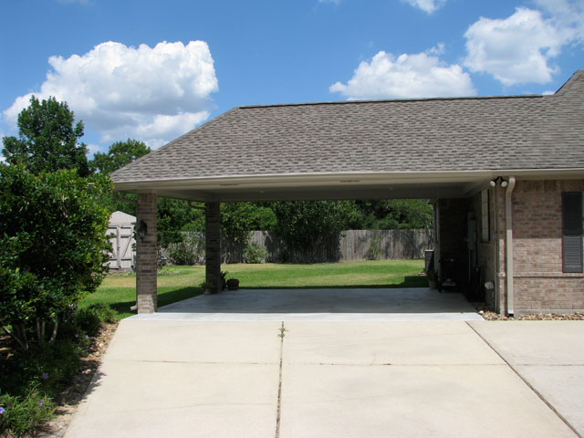 Empty Carport Made by Home Remedy